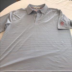 Bald Head Blues striped polo shirt men's large